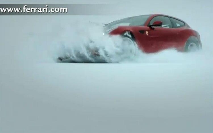 2012 Ferrari Ff En Snow1