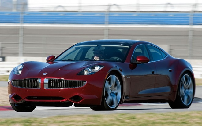 2012 Fisker Karma Driver Side Motion On Track 660x413
