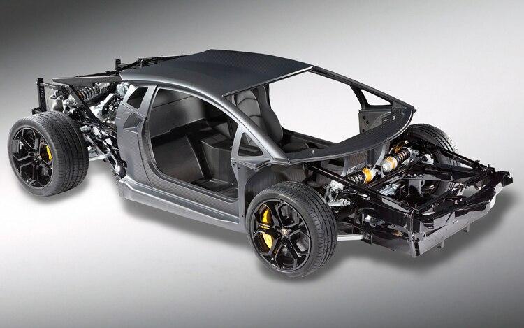 2012 Lamborghini Aventador Chassis Front Three Quarter1