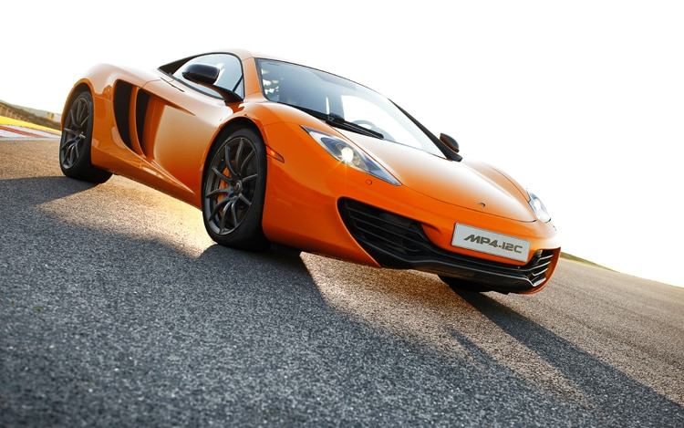 2012 Mclaren MP4 12C Front Three Quarters Low 22