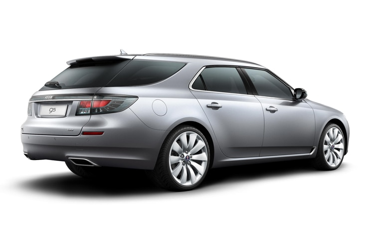 Saab 9 5 SportCombi Wagon Rear Three Quarter View1
