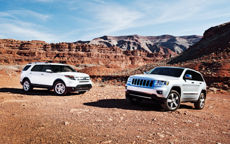 2011 ford explorer vs 2011 jeep grand cherokee comparison automobile magazine. Black Bedroom Furniture Sets. Home Design Ideas
