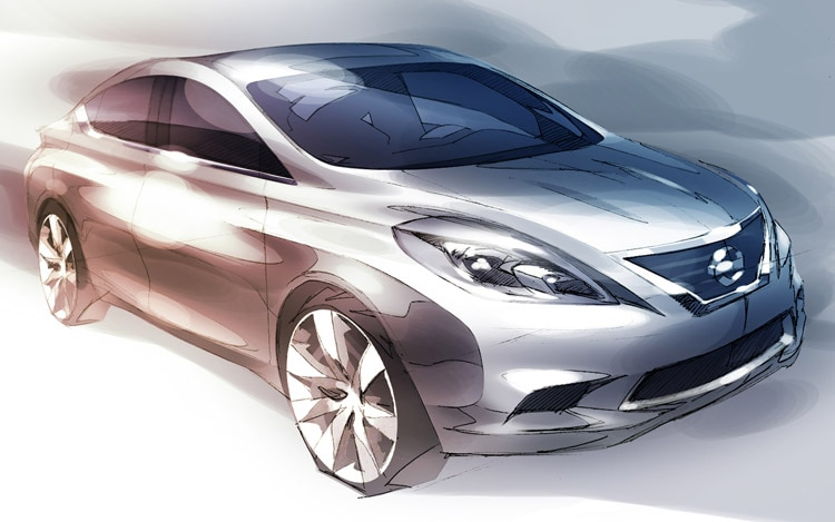 New Nissan Versa Preview Sketch