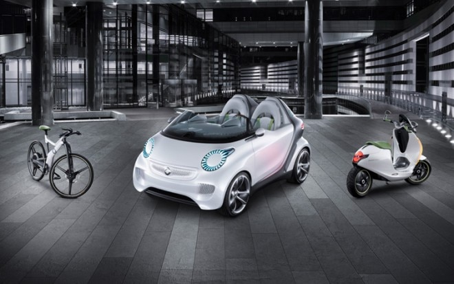 Smart Forspeed Concept Front Three Quarters View With Bikes1 660x413