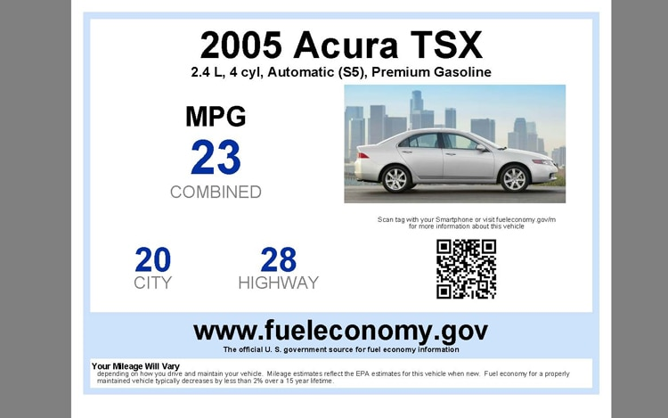Sell It Epa Makes Available Used Car Fuel Economy Stickers
