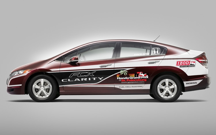 Honda Fcx Clarity St Petersburg Pace Car Side View1