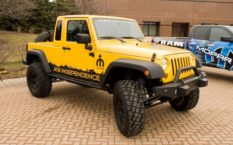 jk8: mopar's new build-your-own jeep pickup kit