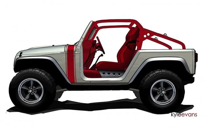 2011 Jeep Wrangler Mopar Porkchop Concept Rendering1 660x413