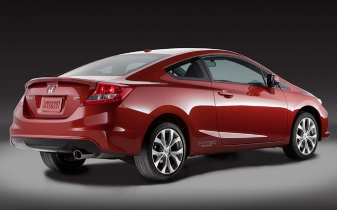 2012 Honda Civic Si Coupe Rear View2 660x413