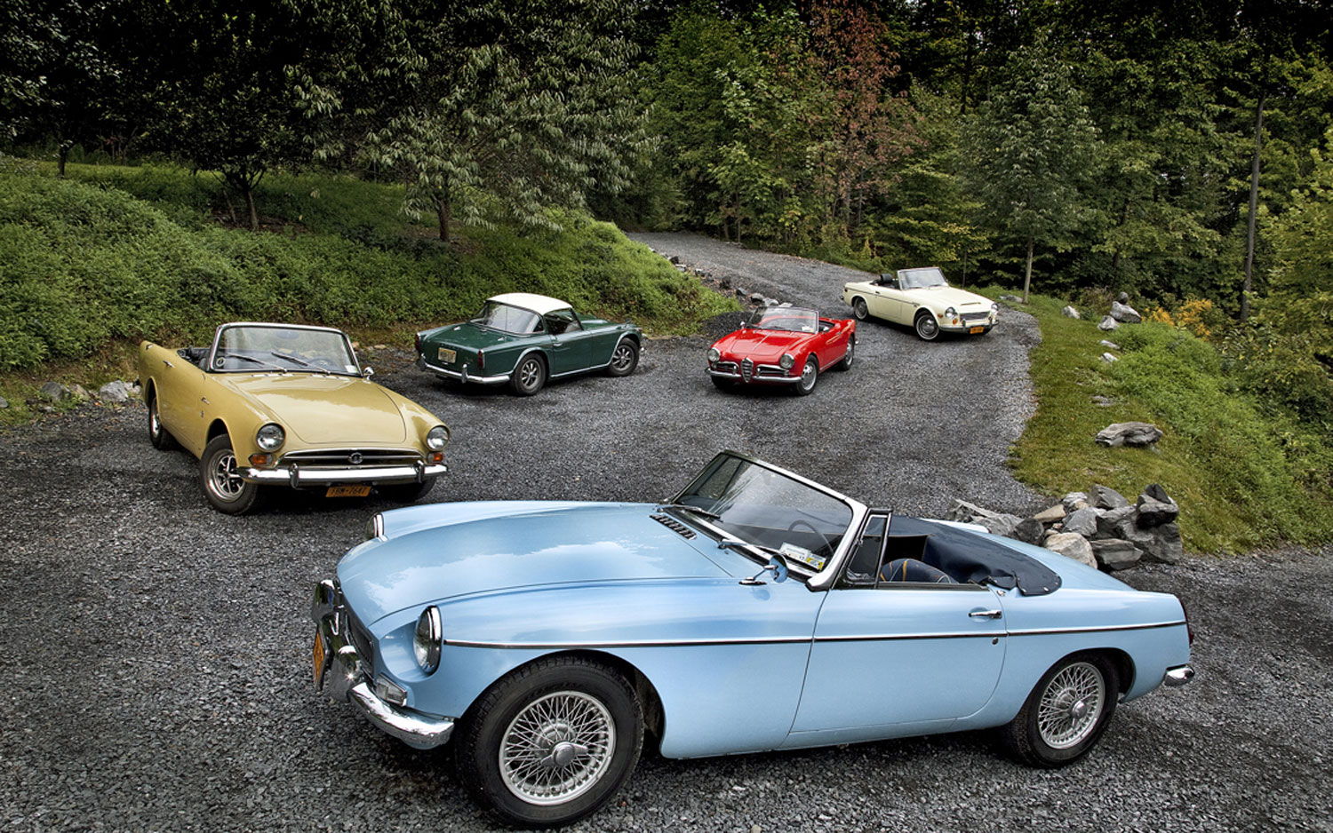 5 Classic Sports Car Parked5