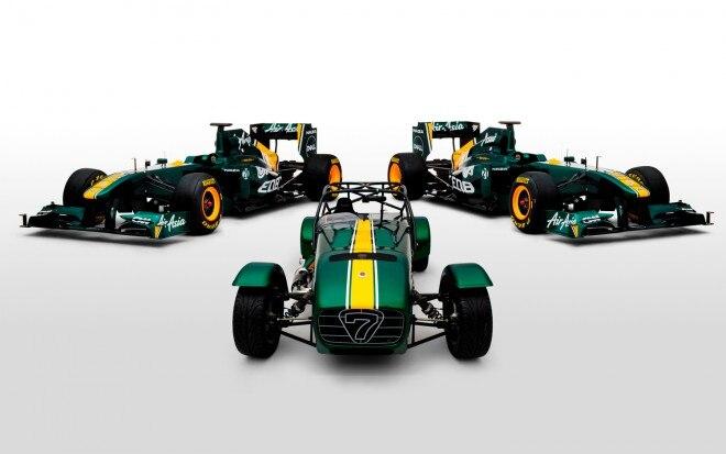 Caterham And Team Lotus T128 Formula 1 Car Front1 660x413