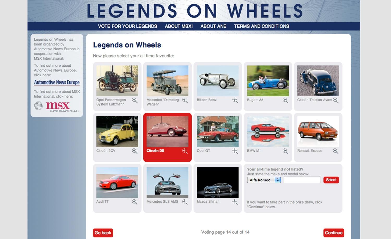 Legends On Wheels Voting