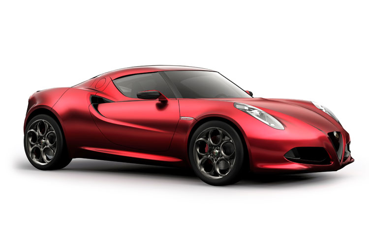 1106 Alfa Romeo 4c Right Side View