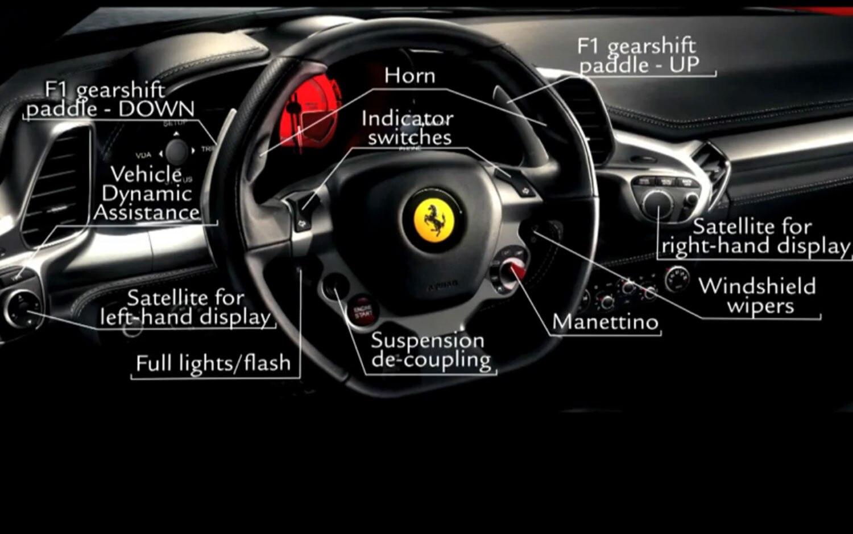 Feature flick ferrari 458 italia controls explained photo gallery 2010 ferrari 458 italia cockpit orientation vanachro Gallery