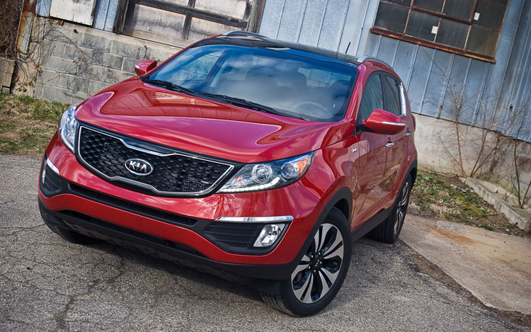 2011 Kia Sportage Sx Awd Front Left View Parked1