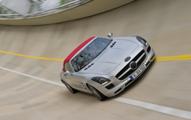 2012 Mercedes Benz Sls Amg Roadster Front Track1 660x413