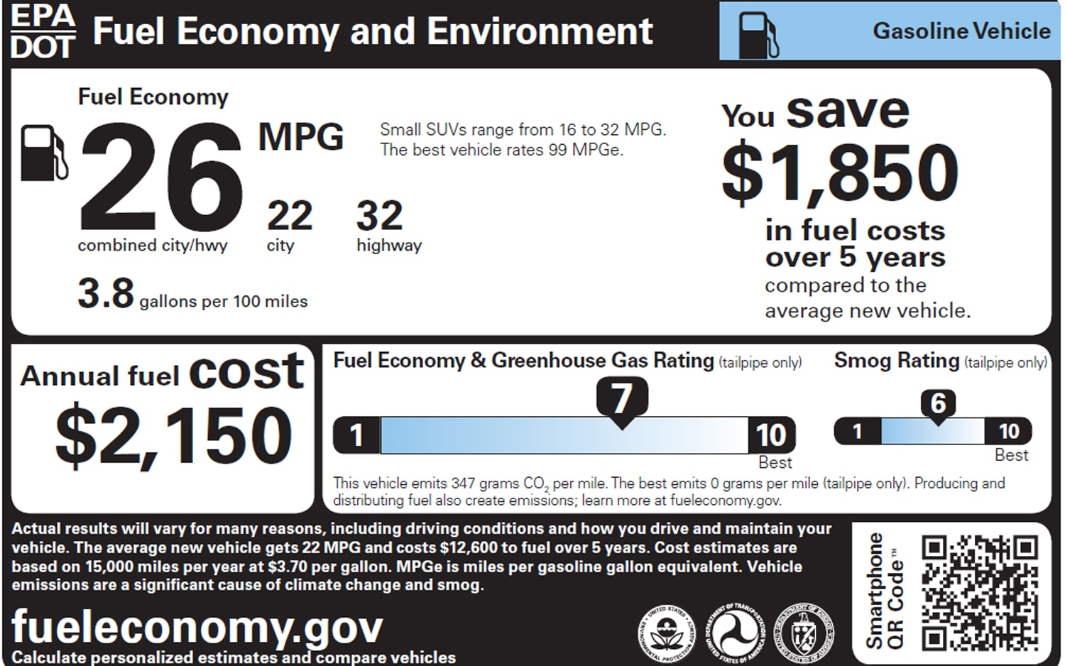 2013 Epa Window Sticker Gasoline1