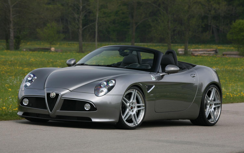 Alfa Romeo 8c Spider By Novitech Front Three Quarter1