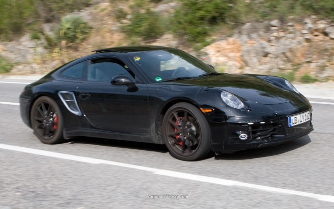 Porsche 911 Front Three Quarter Spy Photo1 660x413