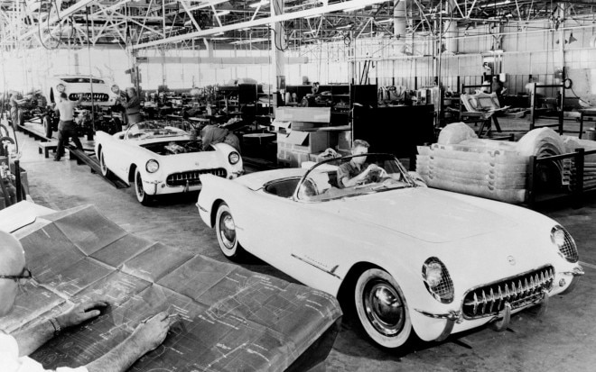 1953 Chevrolet Corvette Assembly Line1 660x413