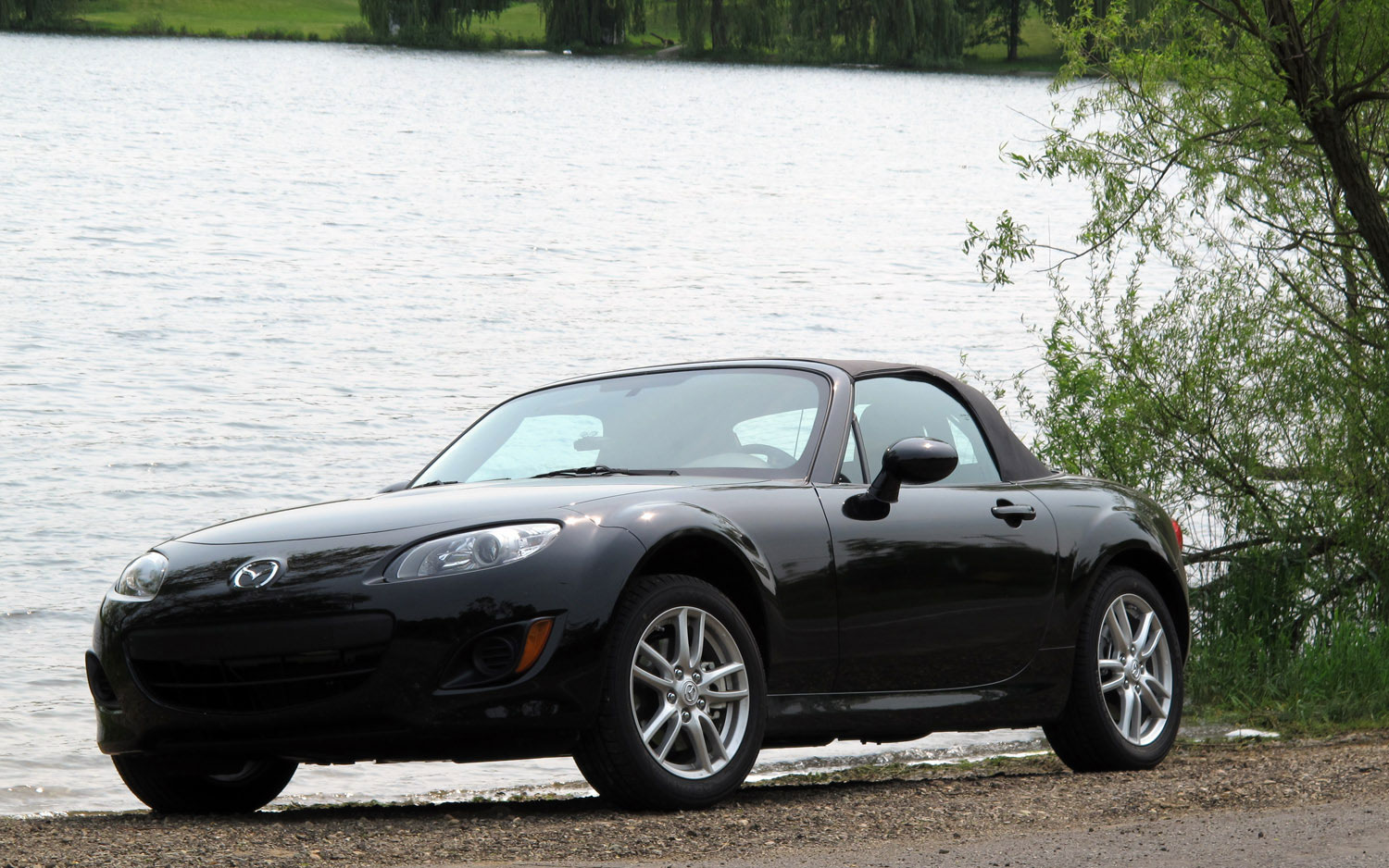 2011 Mazda Mx 5 Miata Front Left View Parked By Water