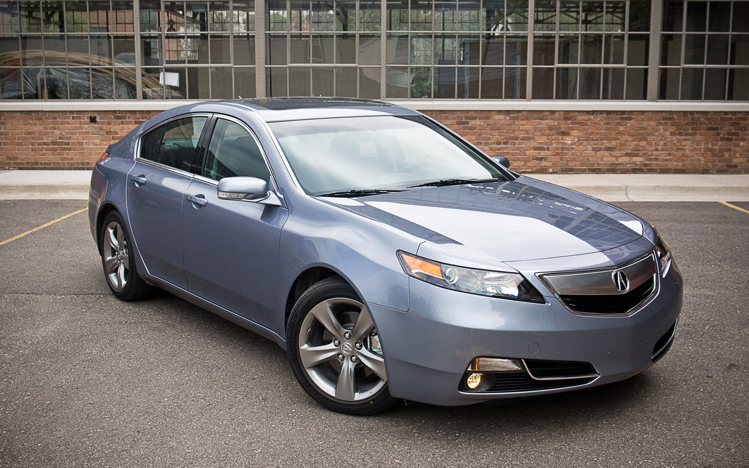 2012 Acura Tl Sh Awd Front Right View Parked1