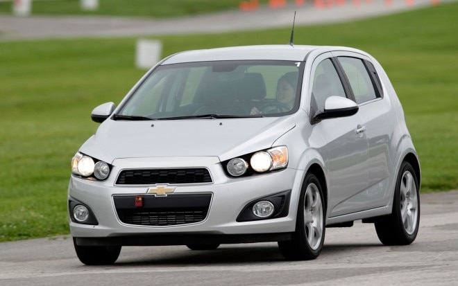 2012 Chevrolet Sonic Front Left View Driving3 660x413