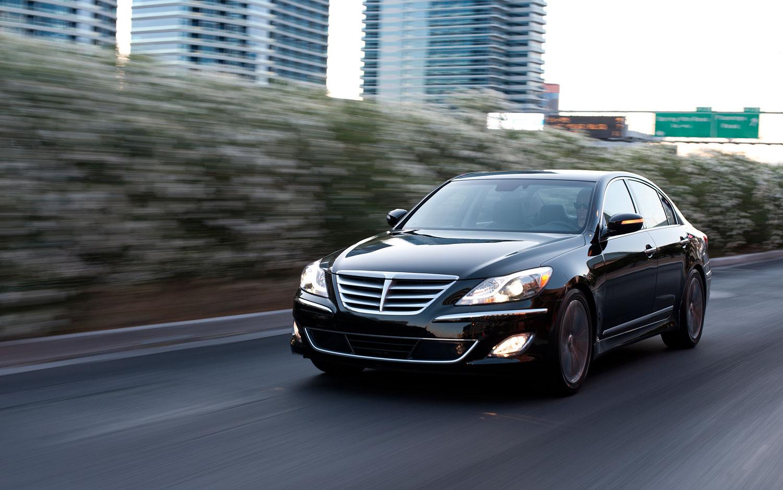 2012 Hyundai Genesis Sedan R Spec Front Left View Driving1