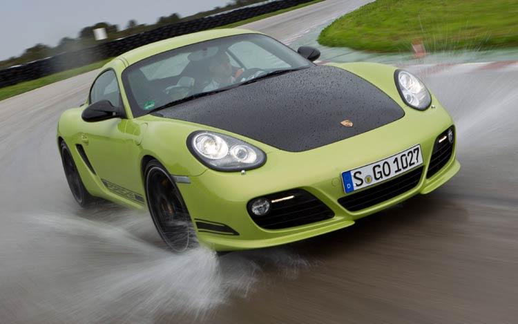 2012 Porsche Cayman R Front In Motion