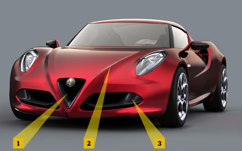 Alfa Romeo 4c Front View3