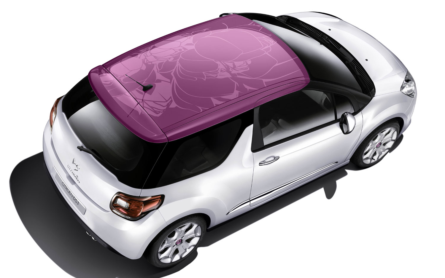 Citroen Ds3 Fuchsia Flower Roof1
