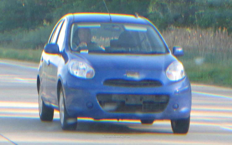 Nissan Micra Spy Photo Front Three Quarter1