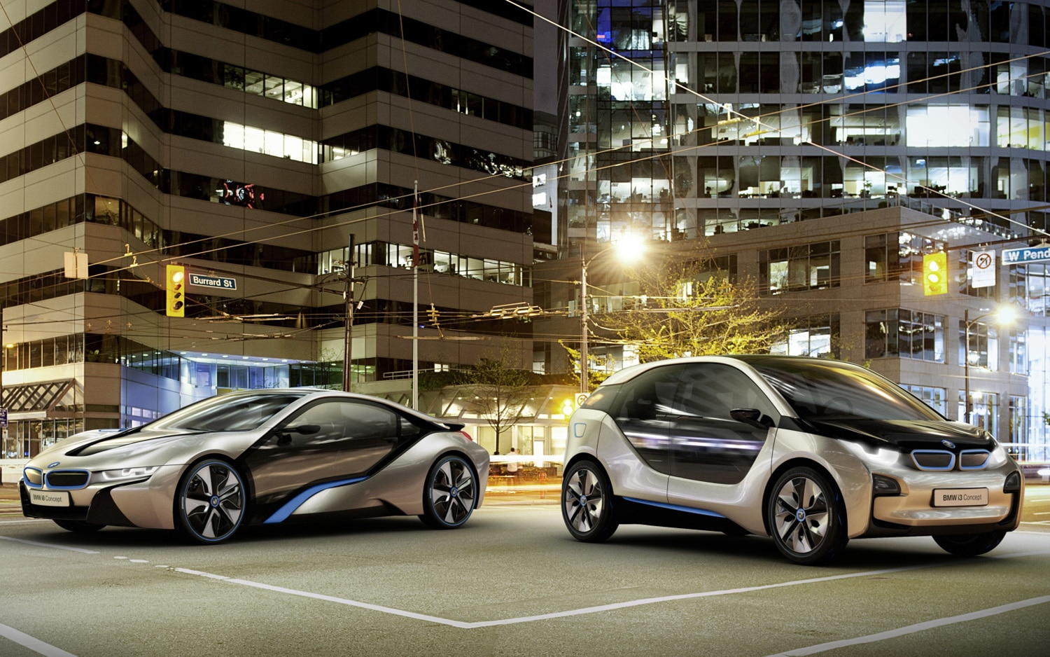 2011 BMW I3 And I8 Concepts In Street1