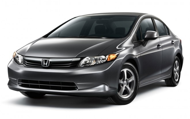 2012 Honda Civic Natural Gas Front Three Quarter1 660x413