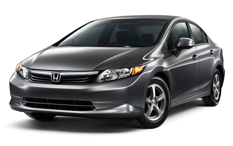 2012 Honda Civic Natural Gas Front Three Quarter1