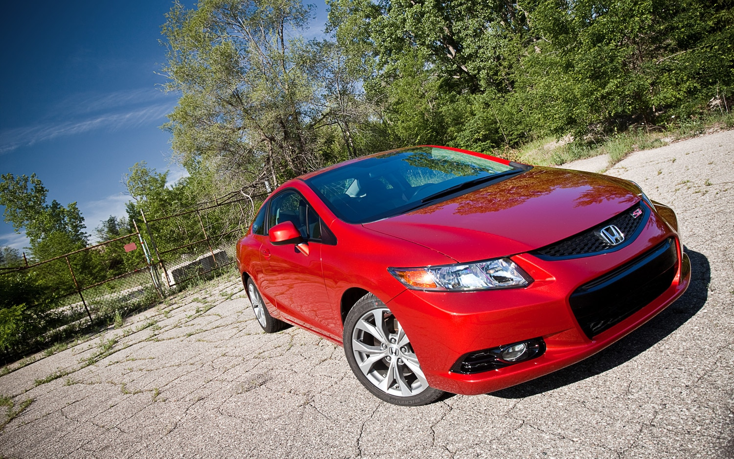 2012 Honda Civic Si Coupe Front Right View1