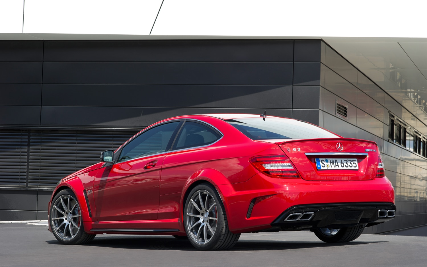 2012 Mercedes Benz C63 AMG Black Series Rear Three Quarters