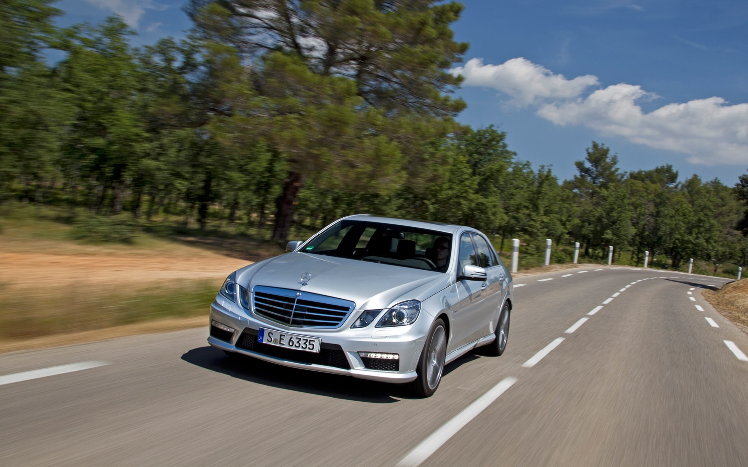 2012 Mercedes Benz E63 AMG Front Three Quarter 2