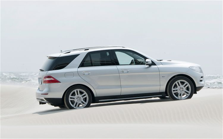 2012 Mercedes Benz M Class Side Rear View In Sand1