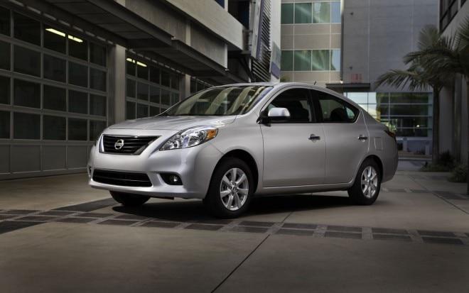 2012 Nissan Versa Sedan Front Left View 660x413