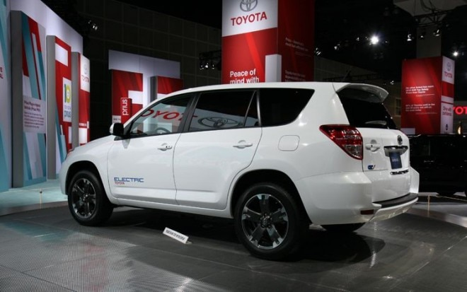 2012 Toyota Rav4 Ev Rear Three Quarter