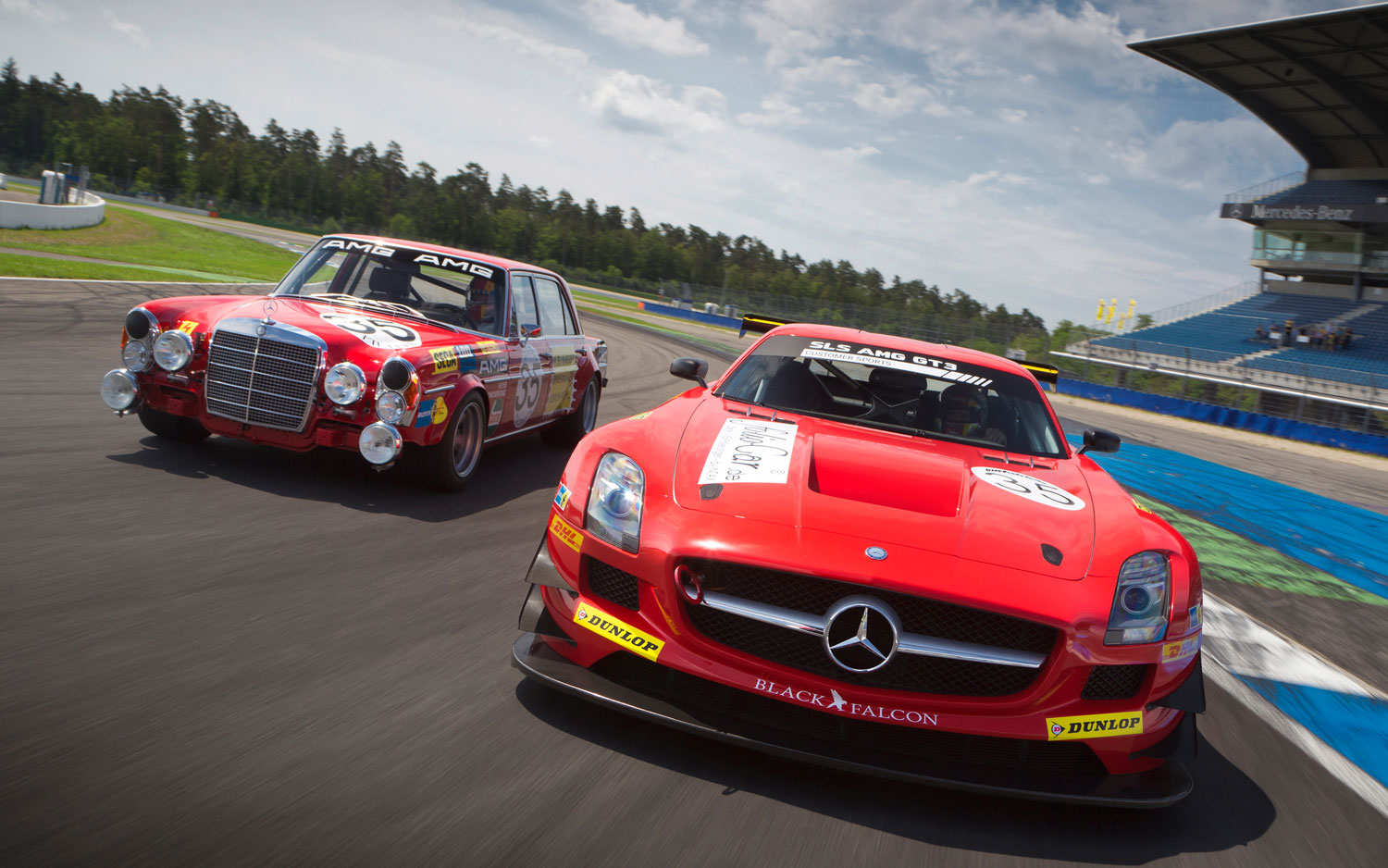 Mercedes Benz SLS AMG GT3 And 300 SEL 6