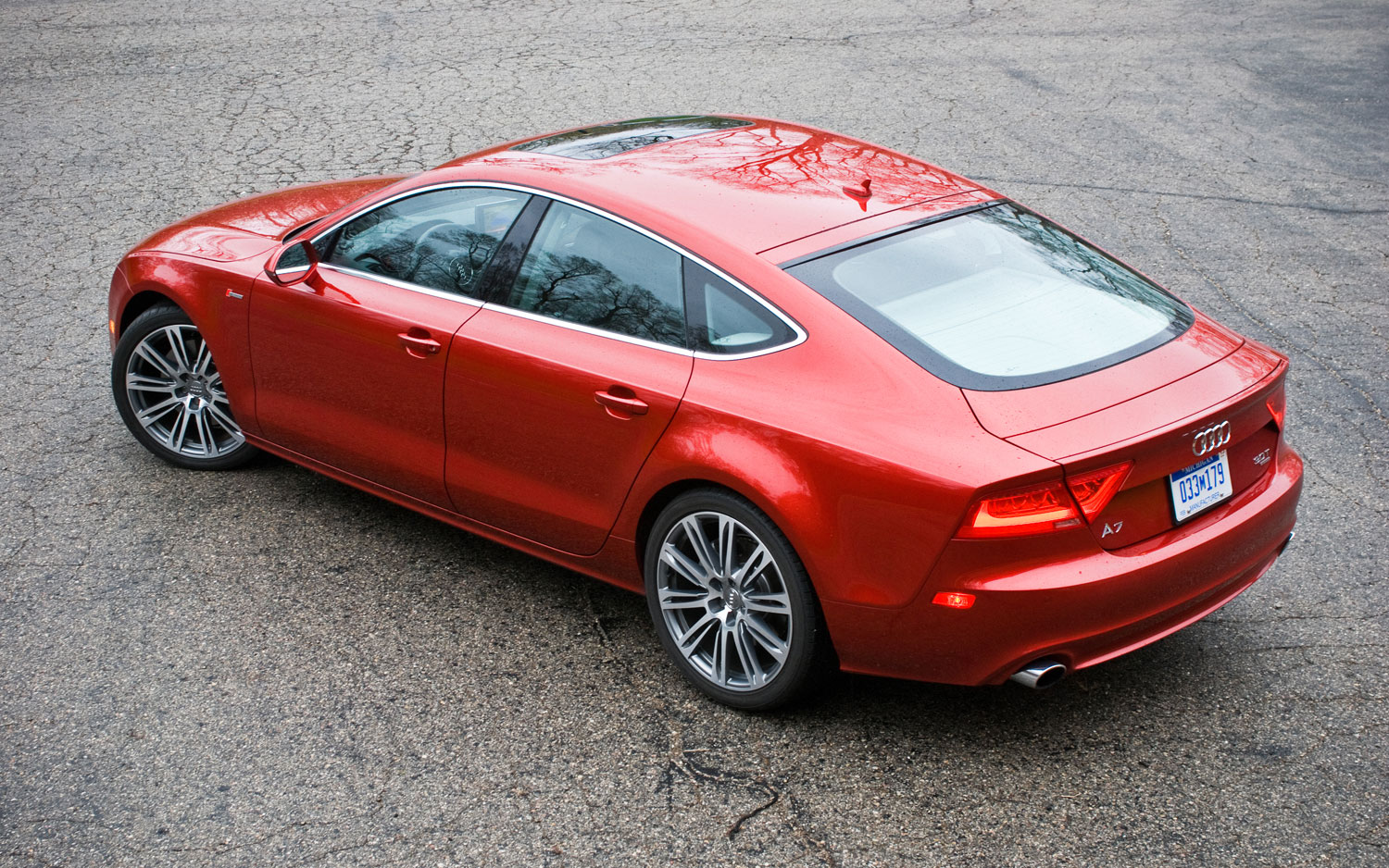 Audi A7 Rear Left Side View Parked2