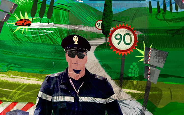 Italian Police Illustration Cropped