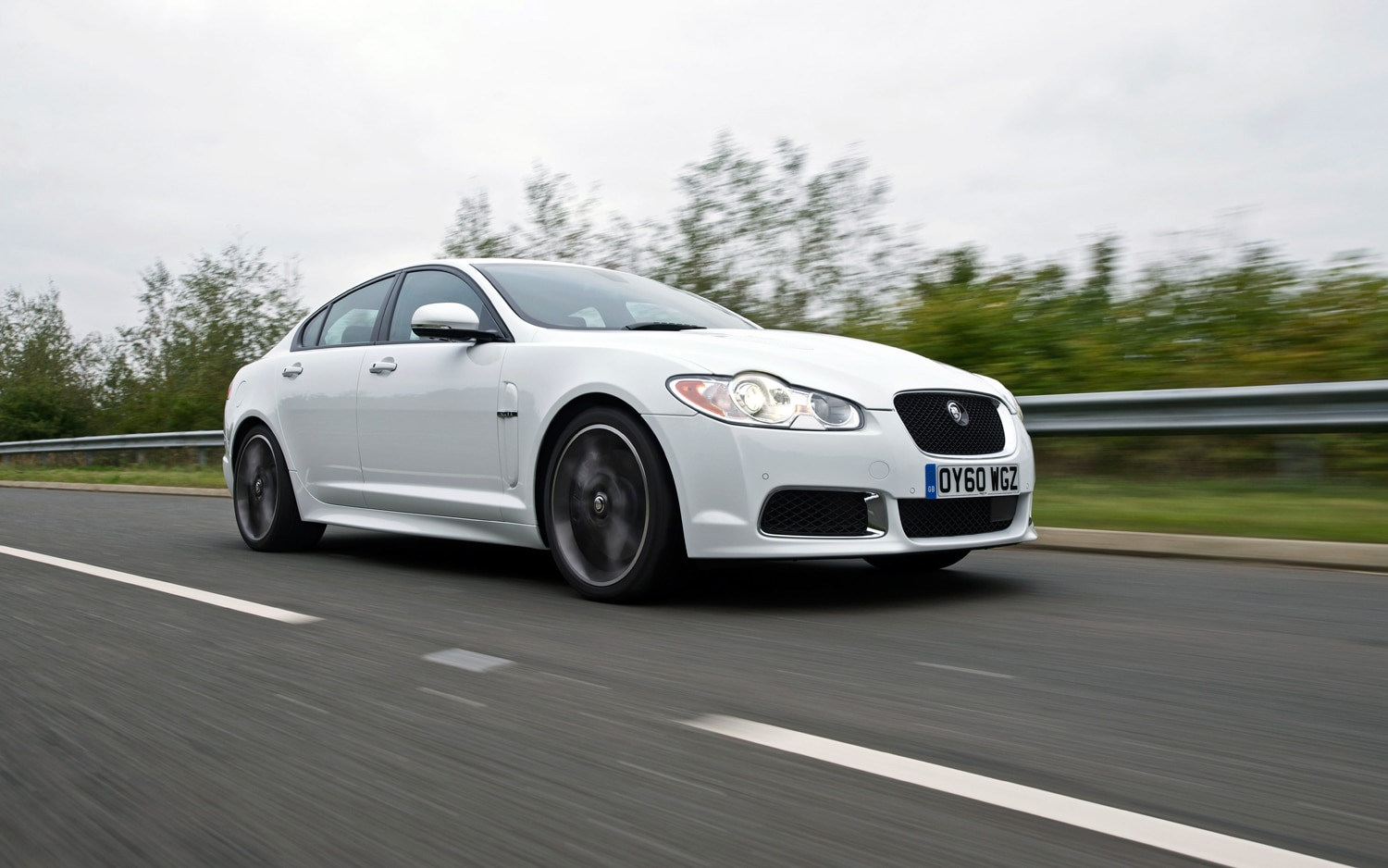 2011 Jaguar XFR Front Right Side View Driving2