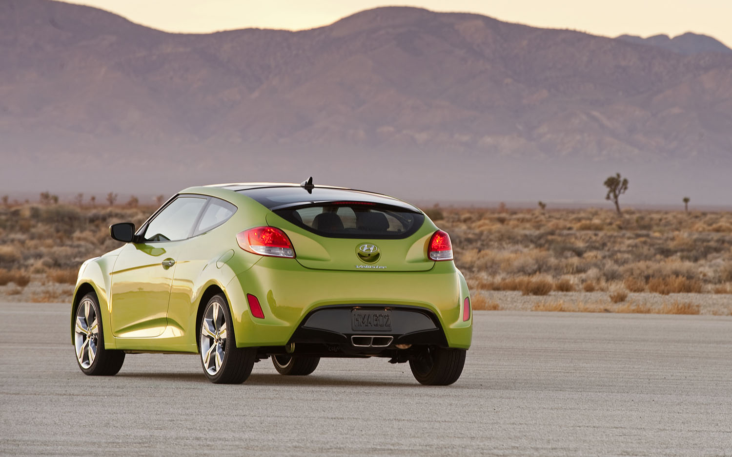 2012 Hyundai Veloster Rear Three Quarter1