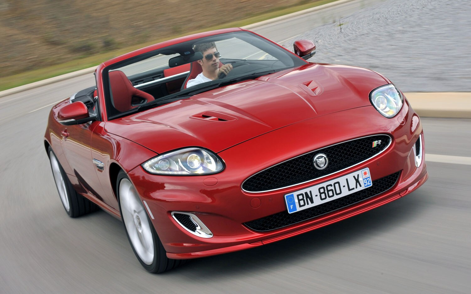 2012 Jaguar XKR Convertible Front Three Quarter1