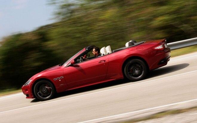 2012 Maserati GranCabrio Sport Right Side Action 660x413
