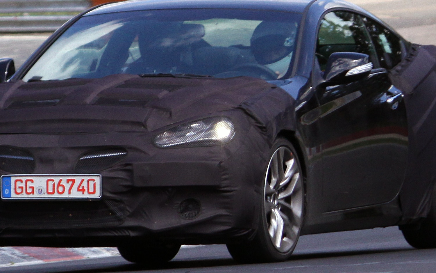 Spied Hyundai Genesis Coupe Going Under The Knife