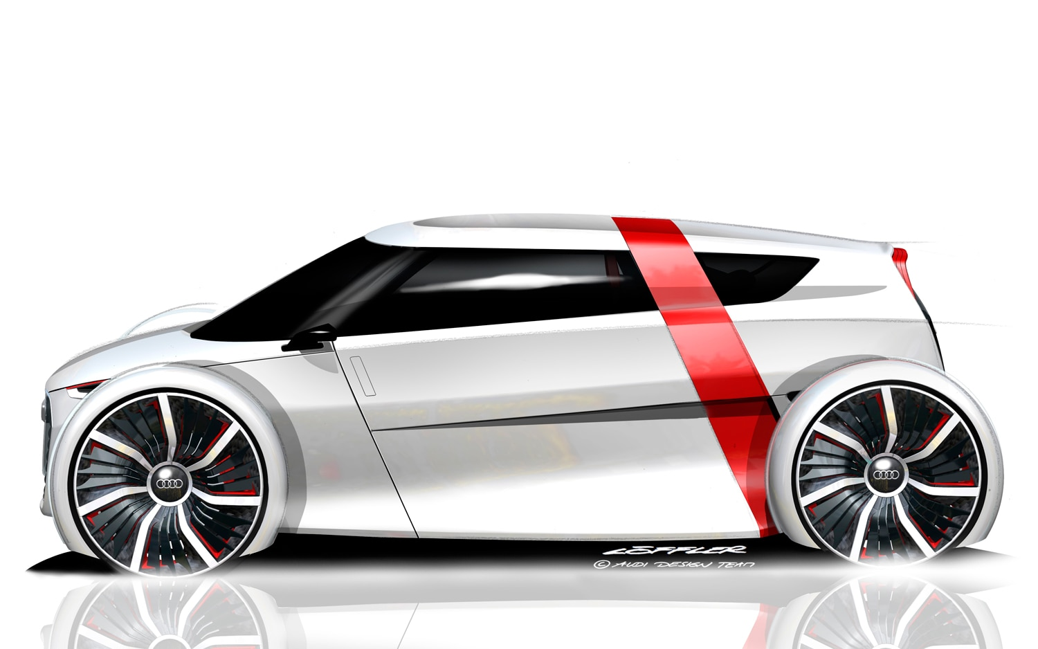 Audi Urban Concept Side View Sketch1